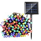 Qedertek Solar String Lights 72ft 200 LED Fairy Christmas Lights - 8 Modes Ambiance Lighting for Outdoor - Patio - Lawn - Landscape - Garden - Home - Wedding (Multi-Color)