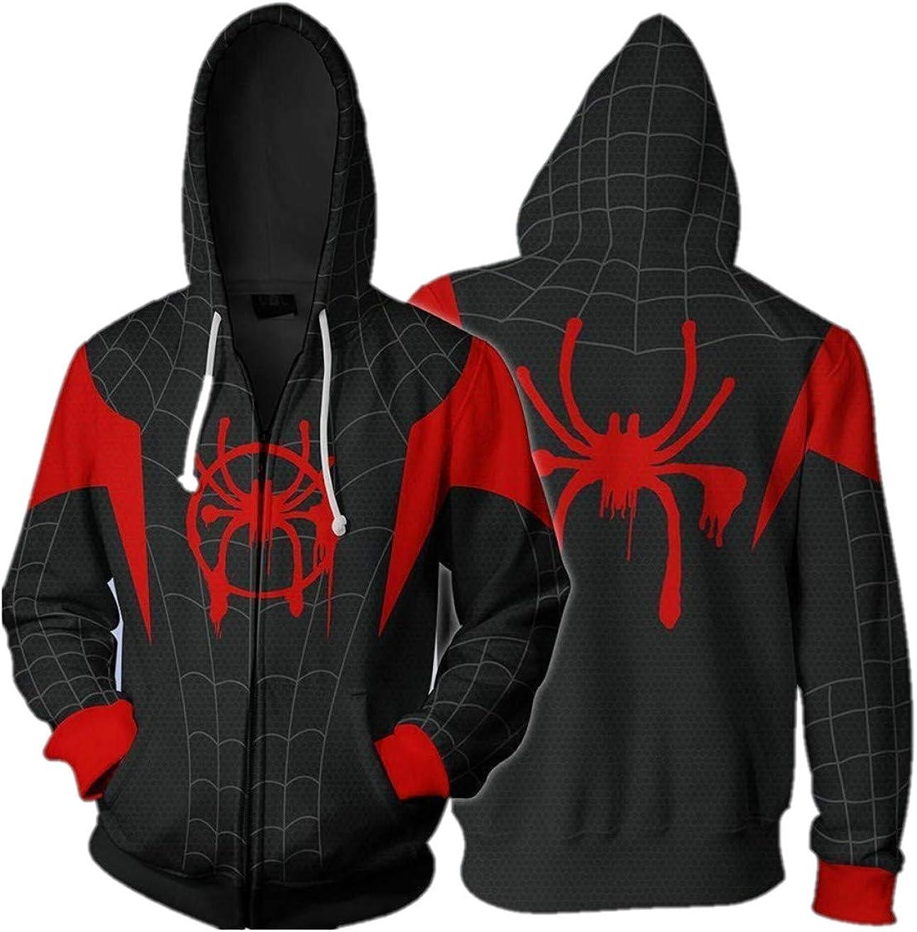 Cosplay Sudadera con Capucha Spider-Man Miles Morales (3XL Tamaño ...