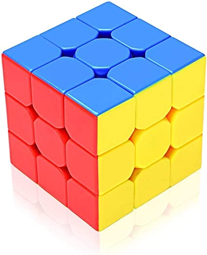 Rubik Cube Premium Stickerless High Speed 3x3x3 Cube, Multicolor