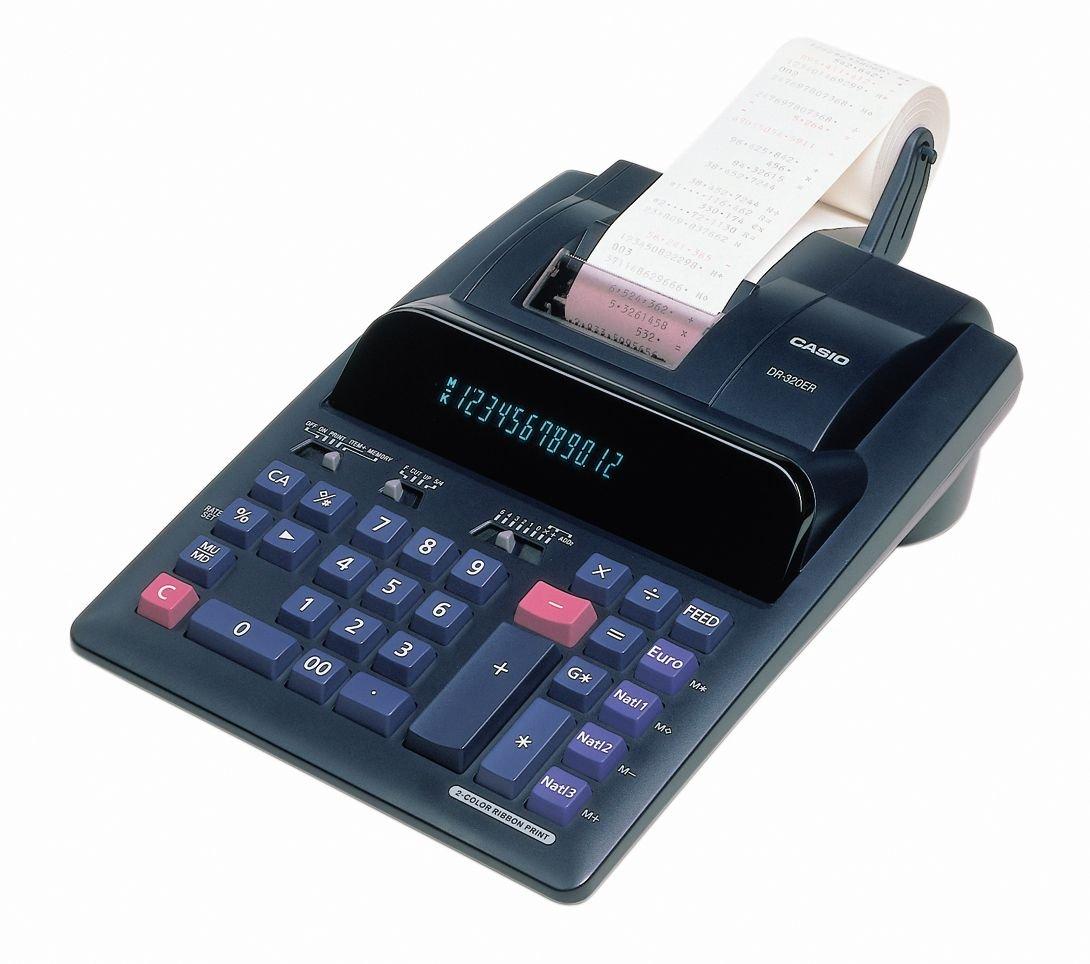CASIO DR-320ER - Calculadora con impresora (2 colores de ...