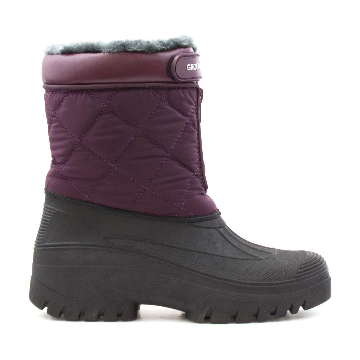 b2712dcc5c6 Groundwork Womens Plum and Black Snow Boot: Amazon.co.uk: Shoes & Bags