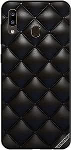 جراب لهاتف سامسونج جالاكسي A20 بتصميم كلاسيكي باللون الأسود