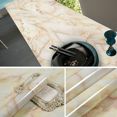 lsaiyy Patrón de mármol imitación Pegatinas Impermeable Papel ...
