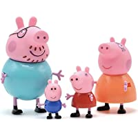 iDream Kid's PVC Pig Family Toy Set Action Figure 9cm and 5.8cm (Multicolour)-Set of 4