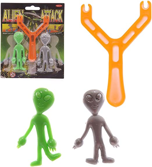 Alien tirachinas – dos Alien Pack en tarjeta de pantalla: Amazon ...