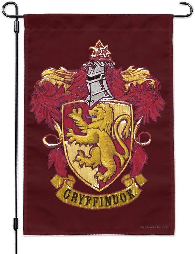 Bandera de Gryffindor de Harry Potter Pintada con el Escudo de Gryffindor de Gravics & More