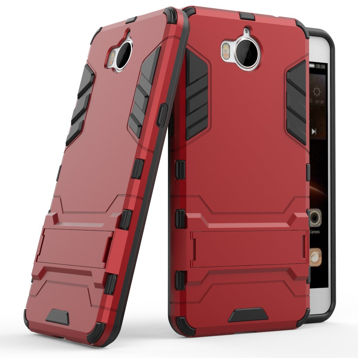 Huawei Y5 2017 Case, Y5 III Case, SsHhUu Shock Proof Cover Dual Layer Hybrid Armor Combo Protective Hard Case with Kickstand for Huawei Y5 2017 / ...