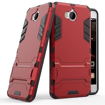 Huawei Y6 2017 Funda, SMTR Ultra Silm Híbrida Rugged Armor Case Choque Absorción Protección Dual Layer Bumper Carcasa con pata de Cabra para Huawei Y6 ...