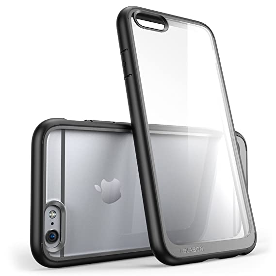 sports shoes 63d94 b2619 iPhone 6s Case, [Scratch Resistant] i-Blason Clear [Halo Series] Also Fit  Apple iPhone 6 Case 6s 4.7 Inch Hybrid Bumper Case Cover (Clear/Black)
