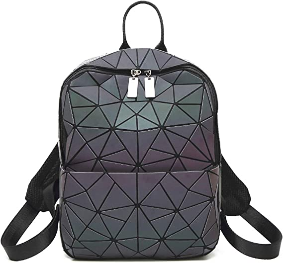 Mochila con diseño geométrico luminoso