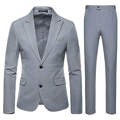 Trajes para Hombre, Moda Ajuste Moderno Conjuntos Abrigo y ...