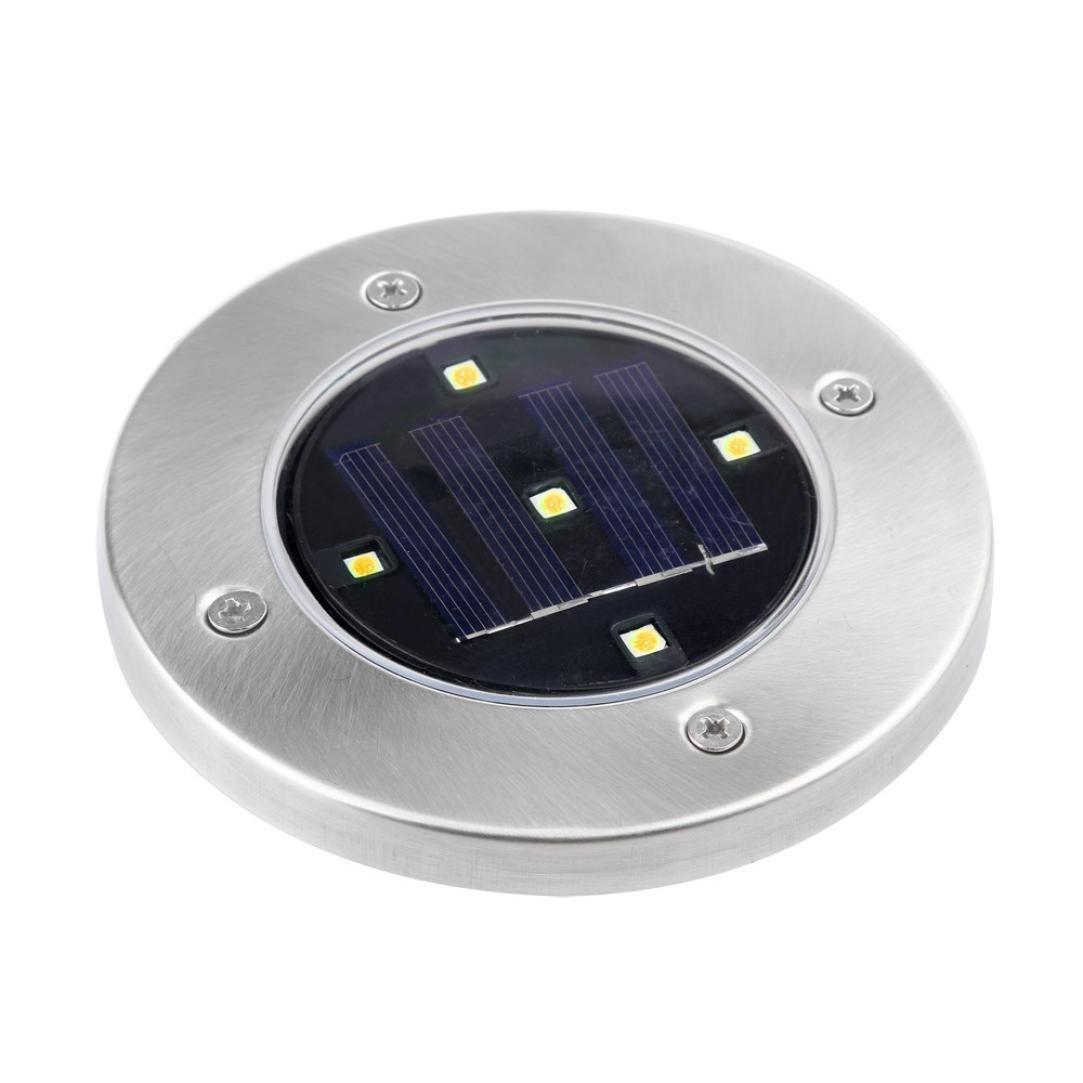 Coohole 1 PC Solar 2 LED Outdoor Path Light Spot Lamp Yard Garden Lawn Landscape Waterproof C, 5 LED