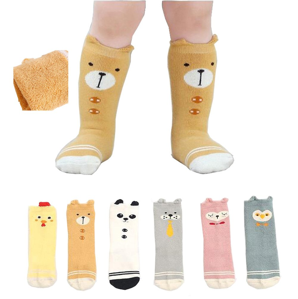 Lucky staryuan 6Pack Baby Girl Socks Toddler Thick Cotton Socks (0-2years) by Luckystaryuan