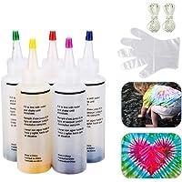 Eco Memos Kit de Teñido Anudado con 5 Pinturas Textiles de Tela para Niños Adultos - Kit de Arte Teñido Anudado para más…