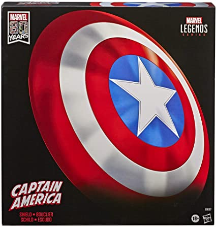 "MARVEL legends captain america shield End Game Legends Prop Replica Gear 24/"" NEUF"