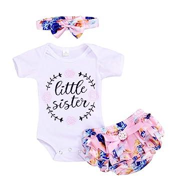 Newborn Baby Girls Romper Bodysuit Jumpsuit Short Sleeve Outfit Summer Clothes