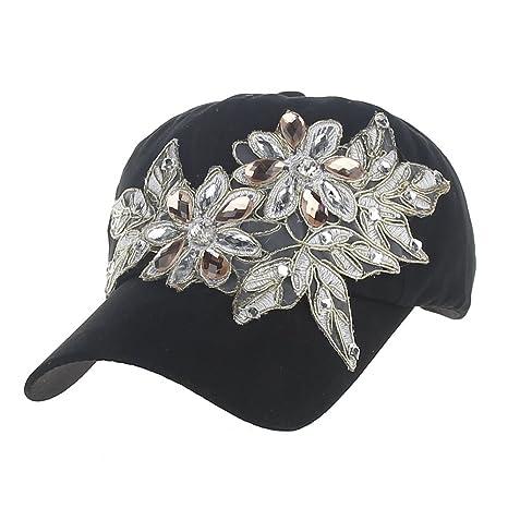 Llxln Gorros De Béisbol Niñas Diamond Flower Gorras Lady ...