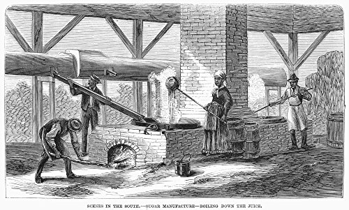 South Sugar Plantation Nboiling Down The Juice From Sugar Cane On A Plantation In Louisiana Wood Engraving American 1871 Poster Print by (18 x 24)