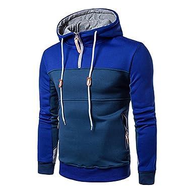 Highdas Herren Sweatshirt Kapuzenpullover Sweater Jungen Hoodie Sport  Sweatjacke Langarmshirt Patchwork Outwear Sweatshirts Kapuze Pullover  Sweaters Rot ... 1a58b9e0f9
