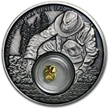 2016 Niue 1 oz Silver California Gold Rush (Antique Finish) 1 OZ Brilliant Uncirculated