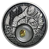 "Prospectors have ""rushed"" upon news of a new Gold discovery to many locations around the World since the early days of civilization. These coins have 24-karat Gold foil included in the insert."
