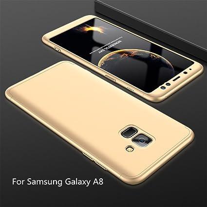 JINCHANGWU Funda para Samsung Galaxy A8 Rigida 360 Grados ...
