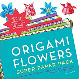 Origami Flowers Super Paper Pack Folding Instructions And Paper For
