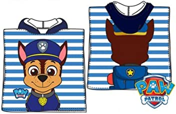 character Paw Patrol Chase Poncho Towel 50x100cm Oficial (exclusive models) JAV
