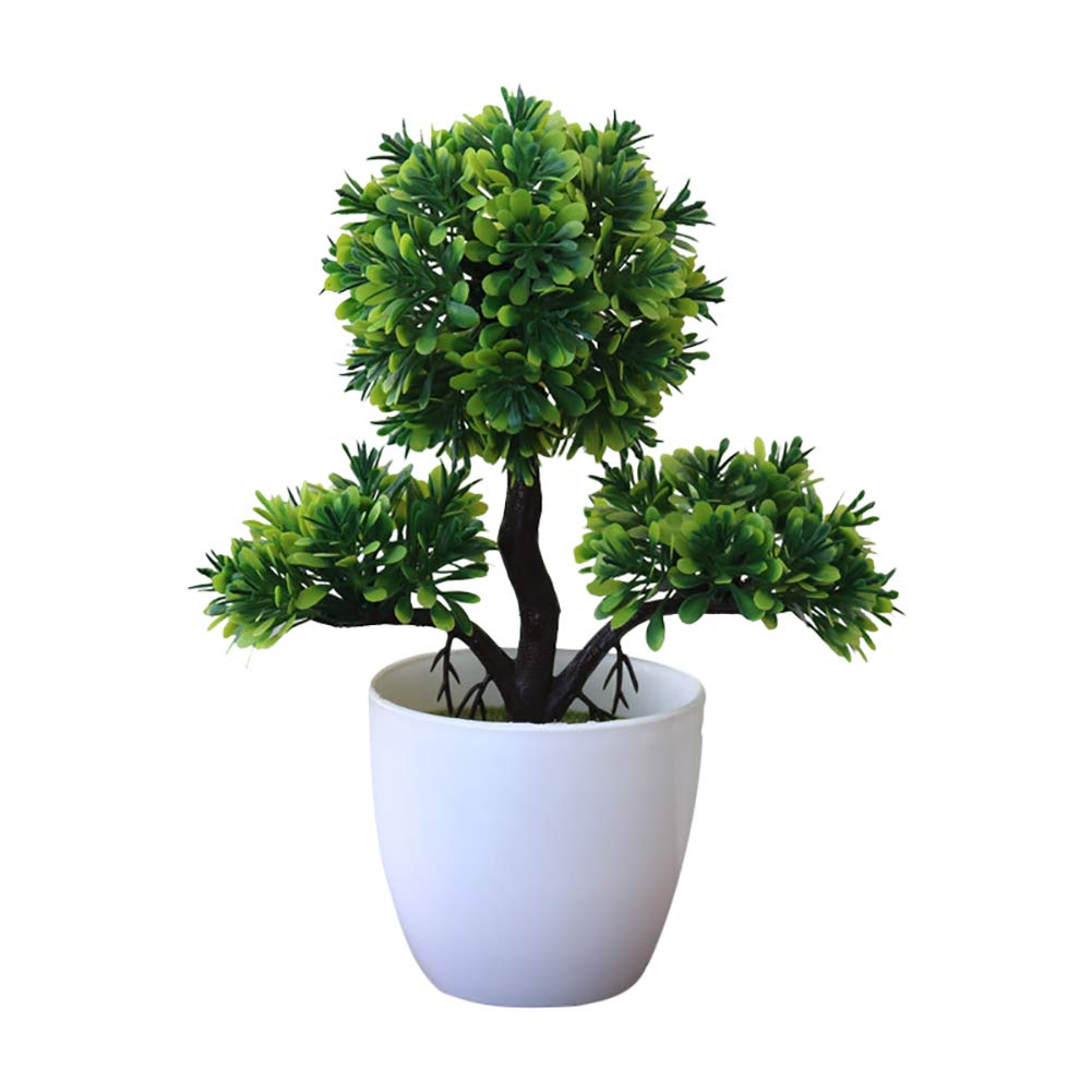 LAA 1pcs Plastic Fake Tree Plants Artificial Plants Mini Fake Potted Potted Artificial Fake Potted Artificial Plants Bushes Faux Succulents Potted Fake Potted Plants for Bathroom,House Decorations