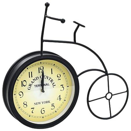 Festnight Reloj de Pared de Jardín Forma Bicicleta Vintage Reloj ...