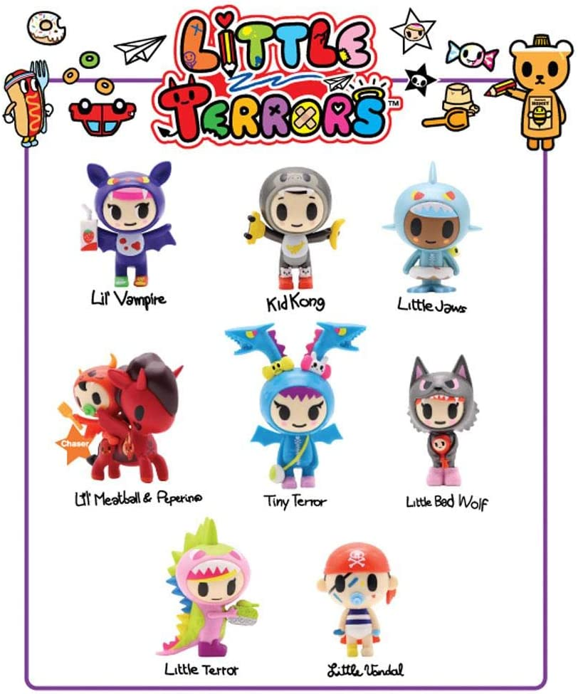 Tokidoki Little Terrors Vinyl Figure~TINY TERROR~New With Box and Foil