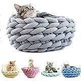 Y-Step - Cama de Punto Suave Lavable para Mascotas para Gatos Perros pequeños