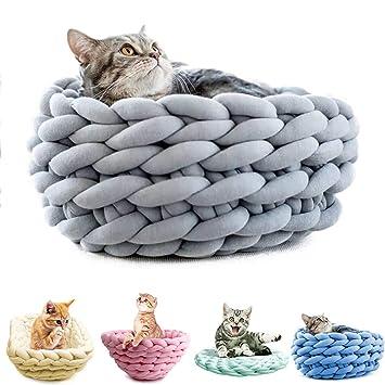 Y-Step - Cama de Punto Suave Lavable para Mascotas para Gatos Perros pequeños: Amazon.es: Productos para mascotas