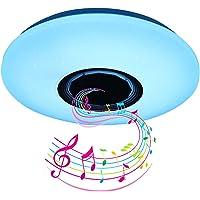 Lamparas de Techo LED con altavoz Bluetooth, 60W Lamparas de Techo Dormitorio Con…