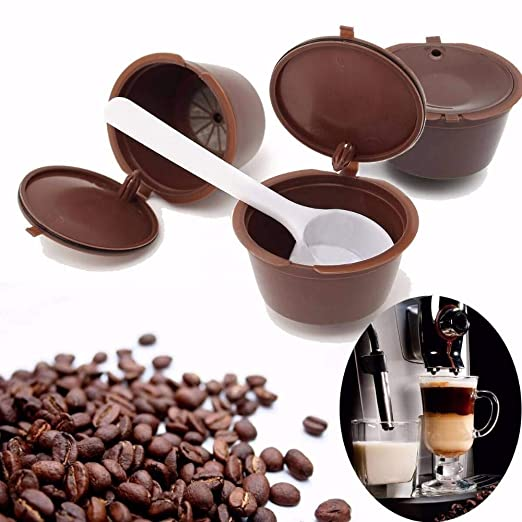 Amazon.com: LZLAN 1Pc Reusable Capsule Pod Coffee Filter Cup ...