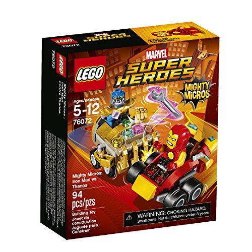 LEGO Super Heroes Mighty Micros: Iron Man Vs. Thanos 76072 Building Kit (Infinity Gauntlet Gems)