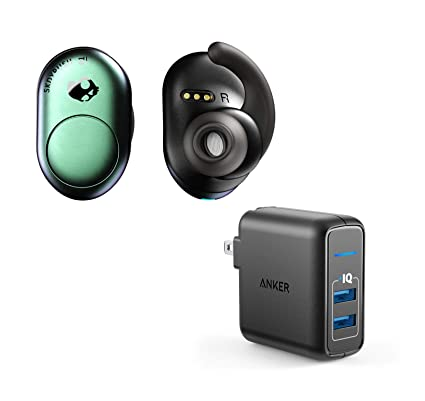 db904dc581c Amazon.com: Skullcandy Push True Wireless Bluetooth Earbuds Bundle with  2-Port USB Wall Charger - Psycho Tropical: Home Audio & Theater