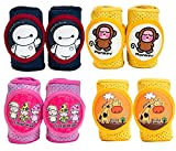 Baby Knee Pads Anti-Slip Walking Kneepads Adjustable Hook & Loop Strap Unisex for Boys Girls Infant Toddler Knee & Elbow Pads Memory Foam Pad Cushion Breathable Mesh Fabric Knee Pads for Babies