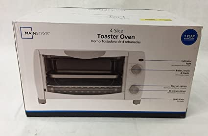 4-Slice Electric Counter-Top Toaster Oven Bake with Timer, Quality 1000 wat