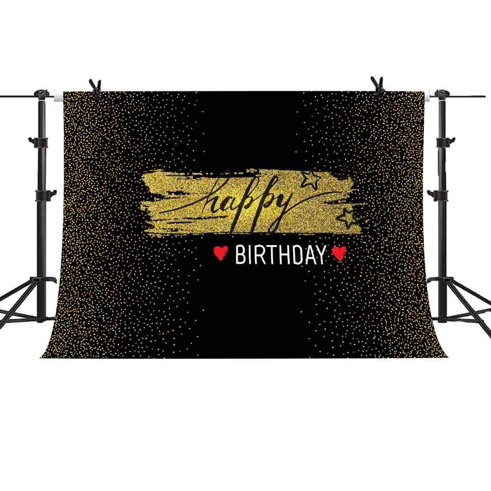 GEME869 MME 10x7フィート ファンタジー ゴールデンバックグラウンド ベビーシャワー スイート16 誕生日テーマパーティー 写真背景 ビニールビデオスタジオ小道具   B07L9L18GP