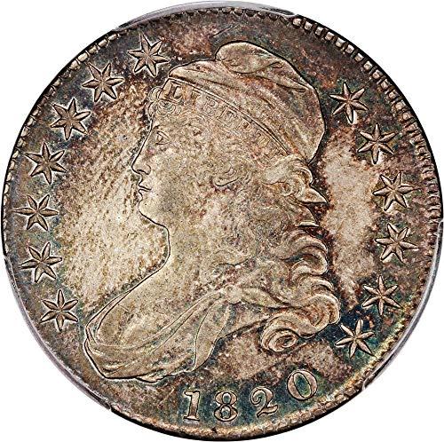 1820 P Bust Half Dollars Curl Base 2 Small Date Half Dollar 92 PCGS ()