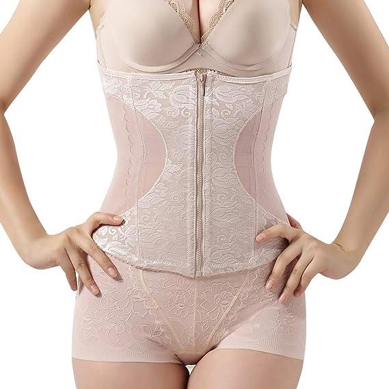 REALDE Mujer Body Reductor Busto Abierto Corsé Sin Costuras Faja ...