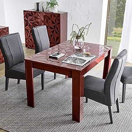 Nouvomeuble Table Salle A Manger Extensible Rouge Laque Design