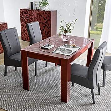 NOUVOMEUBLE Mesa de Comedor Extensible Color Rojo Lacado ...