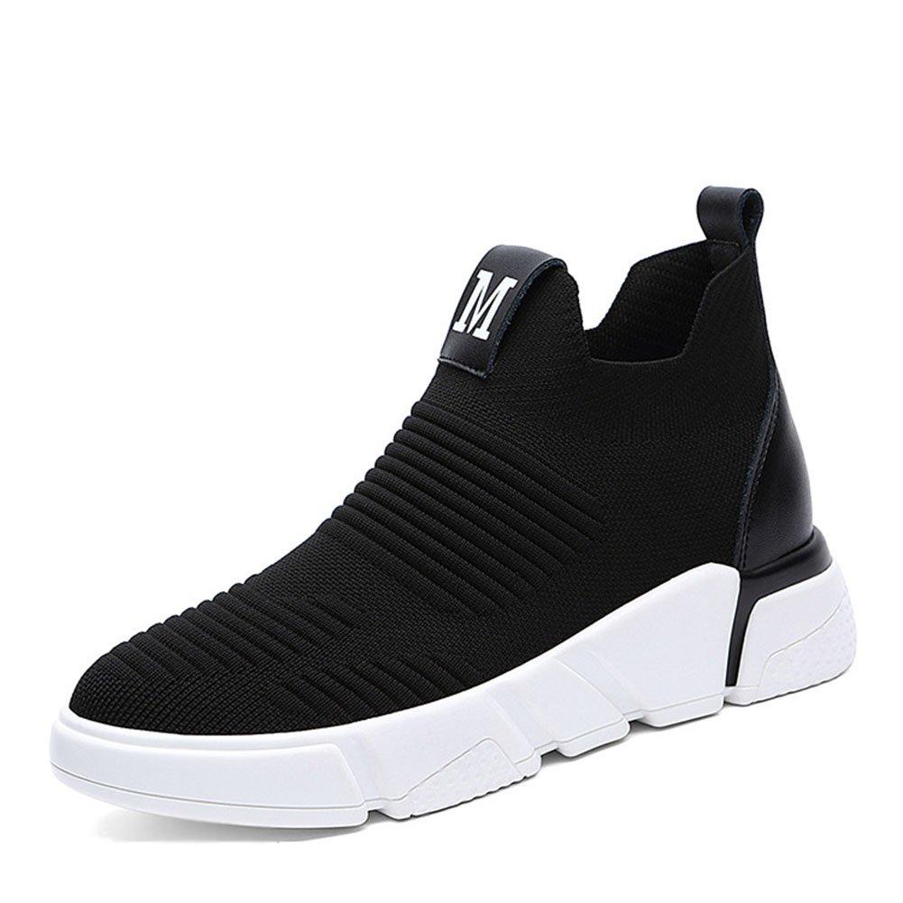 Zapatillas para mujer Zapatos casuales Malla transpirable PU Primavera Otoño resistente al desgaste Zapatos antideslizantes perezosos Señoras Deportes Zapatos casuales al aire libre Zapatos perezosos ( Color : Negro , tamaño : 35 ) 35