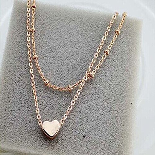 ABC® Elegant Double Chain Heart Bead Anklet Ankle Bracelet Beach Foot Jewelry