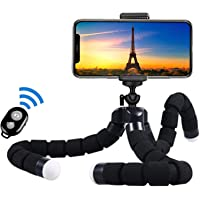 Premium Phone Tripod 10'' Mini Tripod Flexible Camera Stand Holder for iPhone Cell Phone Flexible Portable Universal…