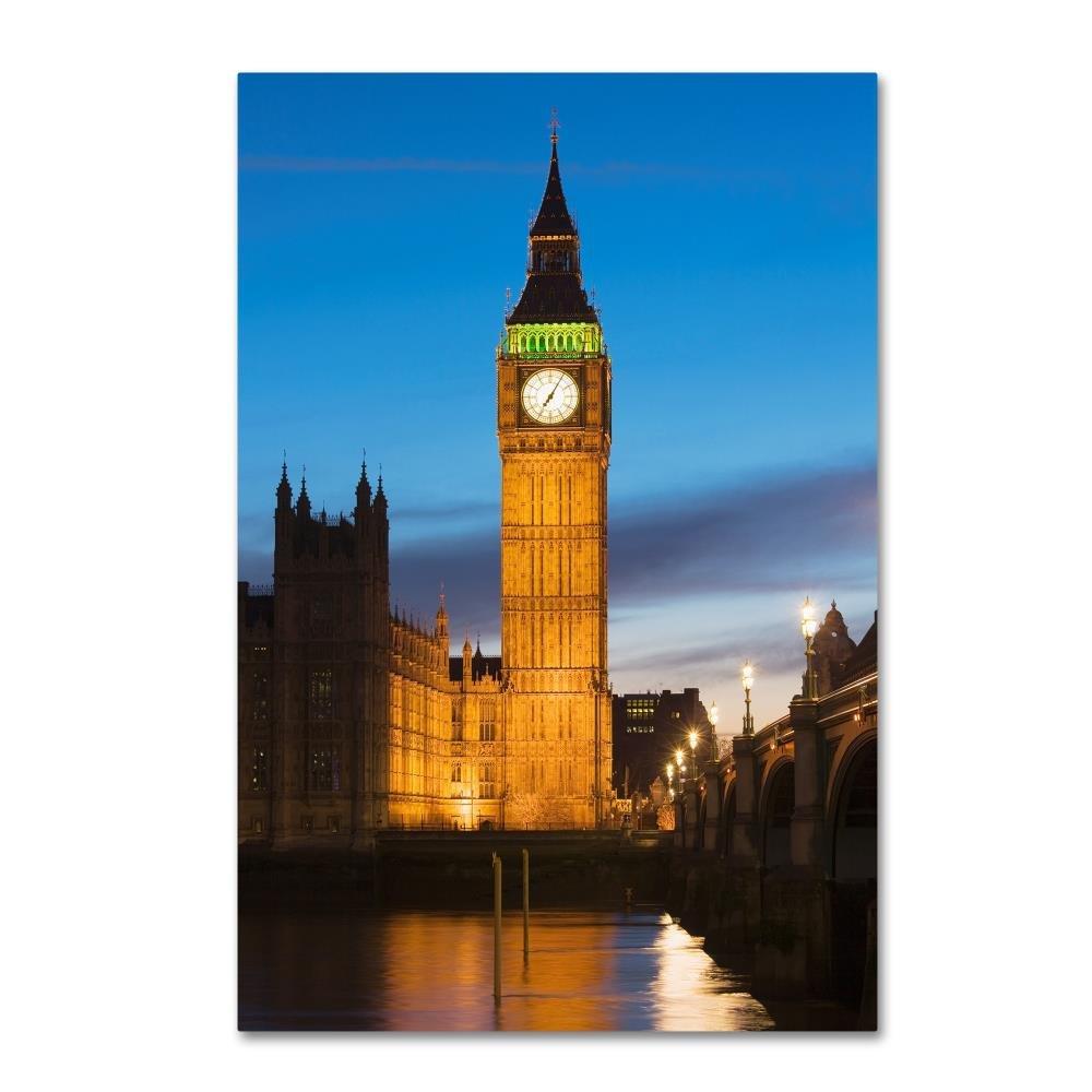 Bell Tower byロバートハーディング画像ライブラリ、12 x 19インチキャンバス壁アート B075ZX259K