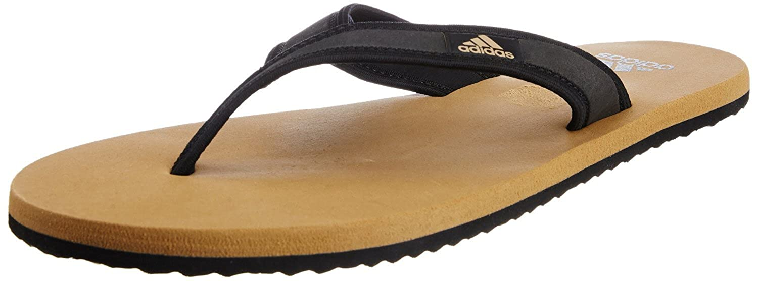 751840304e0d Adidas Men s Adi Rio Khaki and Black Flip-Flops and House Slippers - 7 UK   Buy Online at Low Prices in India - Amazon.in