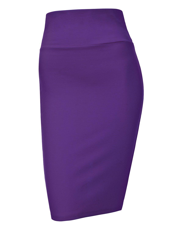 Regna X Love Coated Womens Rayon Soft & Stretchy Slim Skirt Purple 2XL